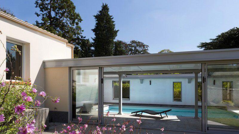 Piscine toit ouvrant 0246 Gris clair