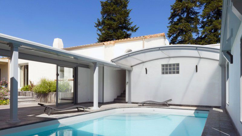 Piscine toit ouvrant 0543 Gris clair