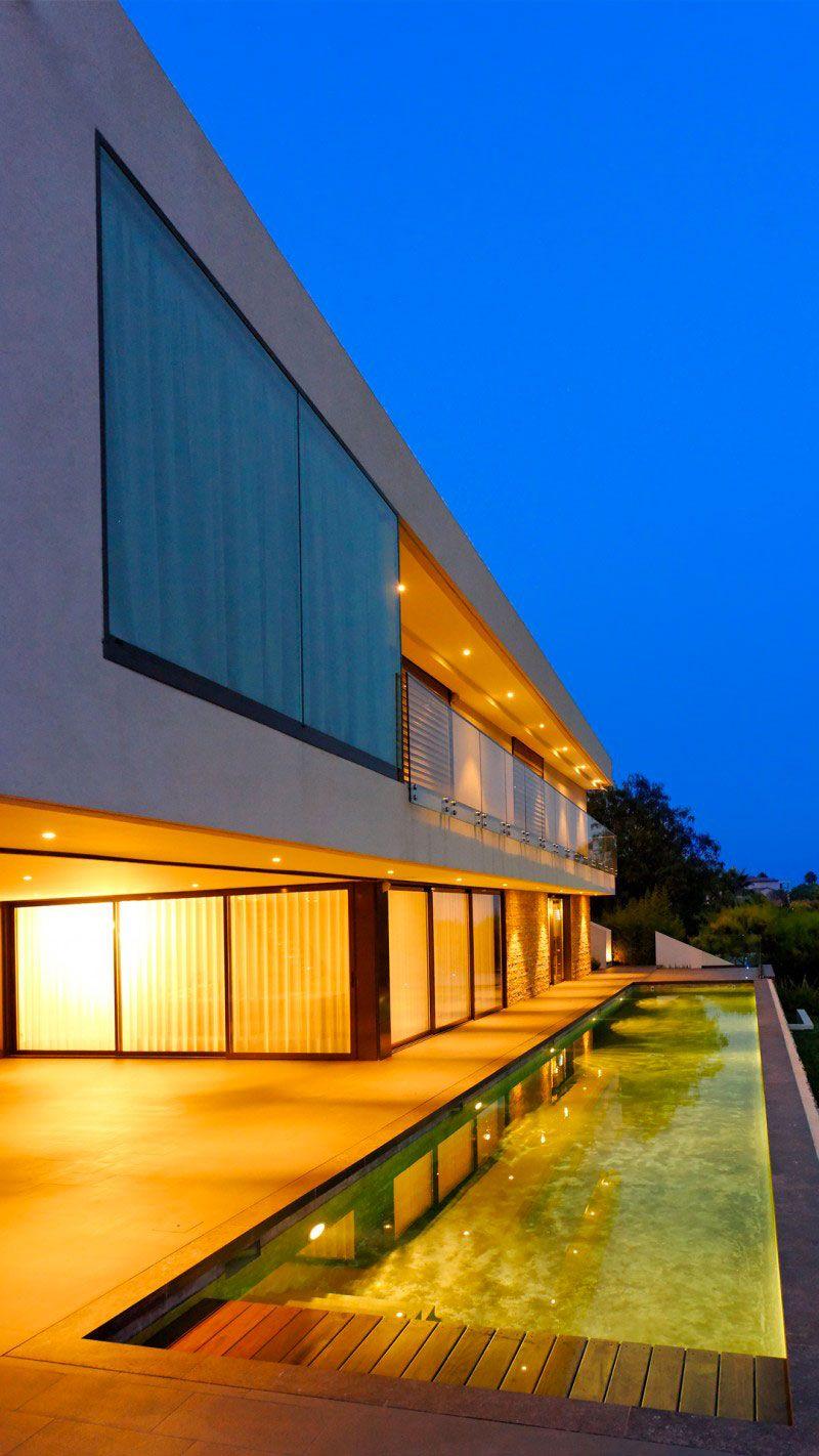 Sous les étoiles maison contemporaine avec couloir de nage Couloir de nage