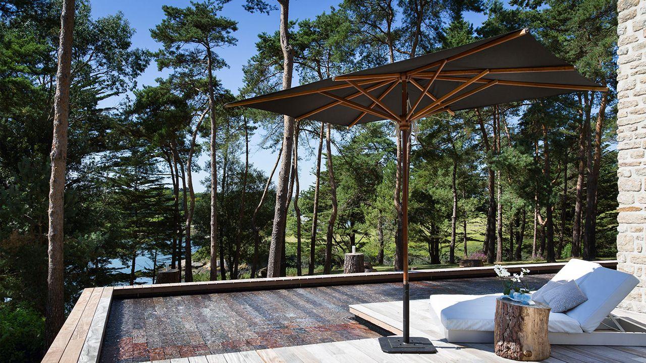 Piscine design avec terrasse en ipé