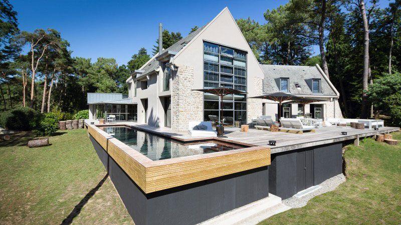 Piscine heureuse, piscine cachée piscine design terrasse ipe Piscine à fond mobile