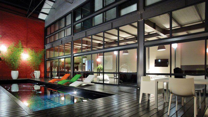 Urban style piscine design urbain Noir