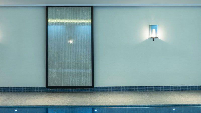 Quiétude harmonieuse piscine mosaique pate verre Piscine intérieure