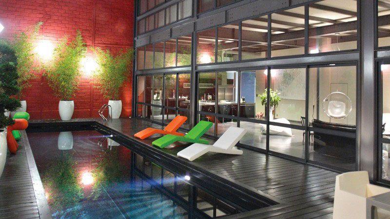 Urban style piscine pour loft Noir