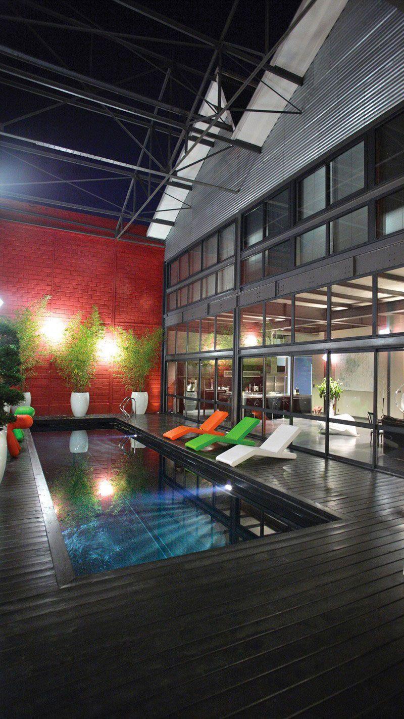 Urban style piscine style loft Noir