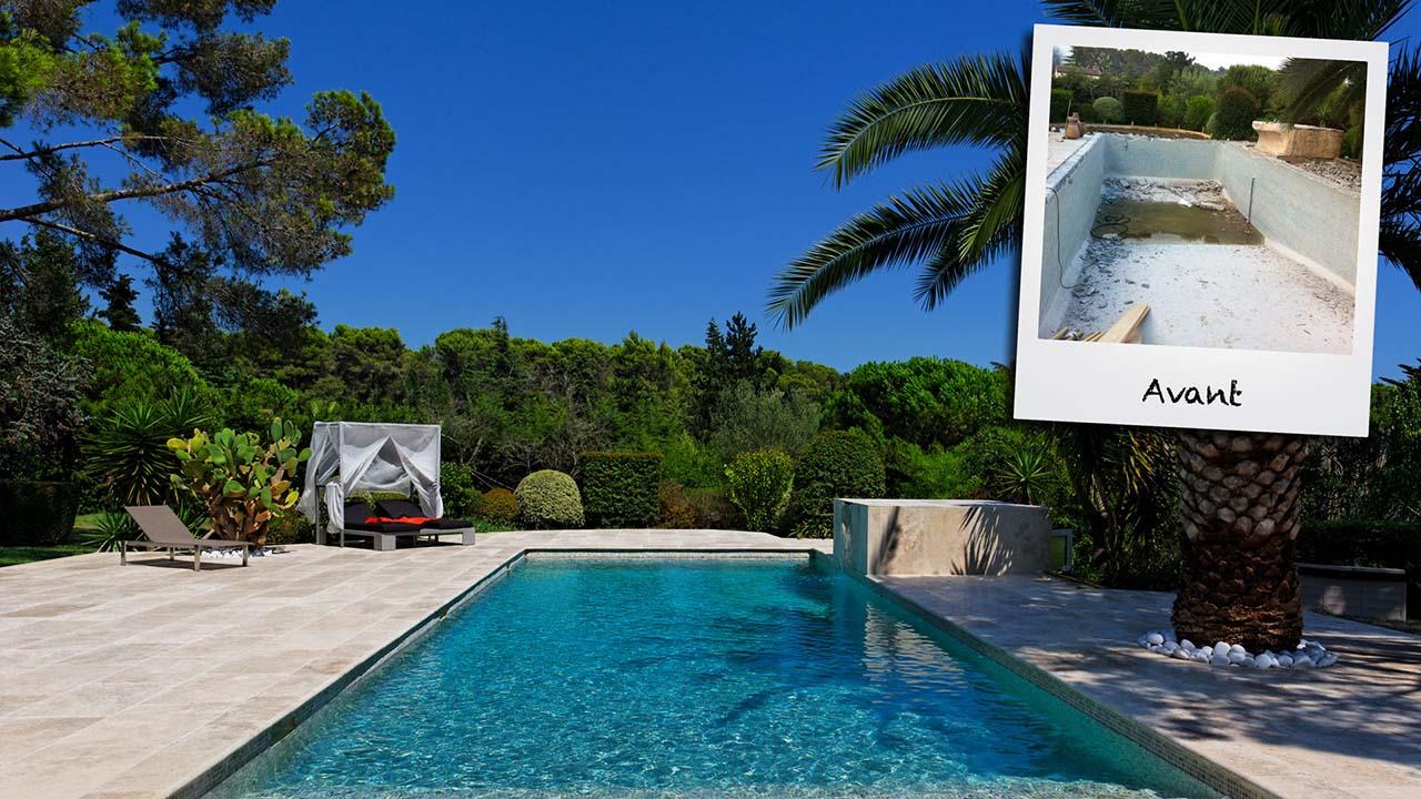 Trophée d'Argent 2013 de la rénovation renovation piscine de luxe Rénovation de piscines