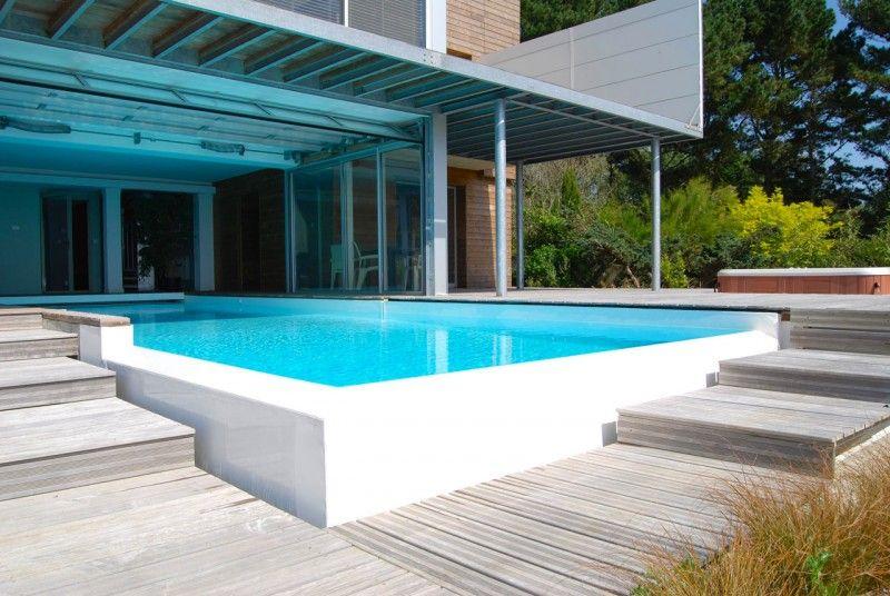 Débordement avec vue mer piscine face a la mer Piscine In&Out Blanc