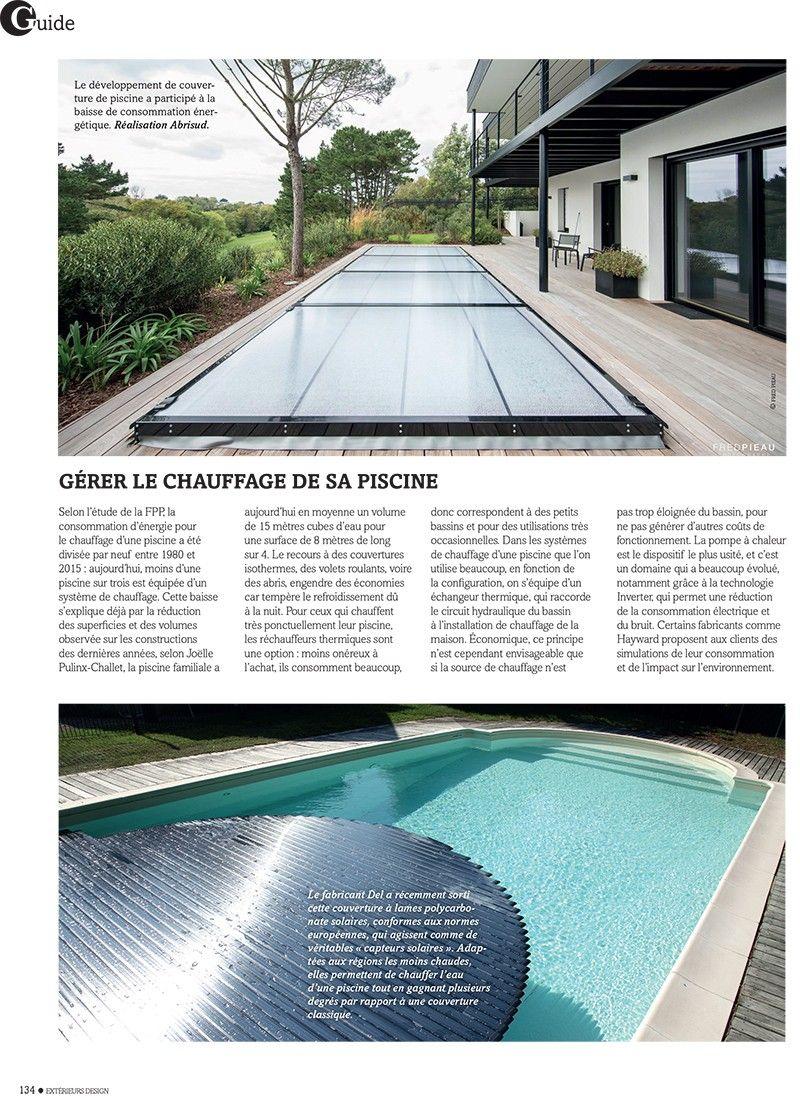 Gros plan sur la piscine basse consommation design piscines