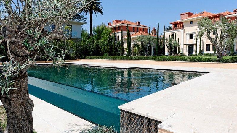 Design sans concession piscine avec paroi transparente Piscine à débordement Piscine à paroi vitrée Noir