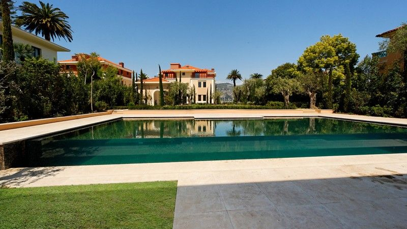 Design sans concession piscine facade en verre Piscine à débordement Piscine à paroi vitrée Noir