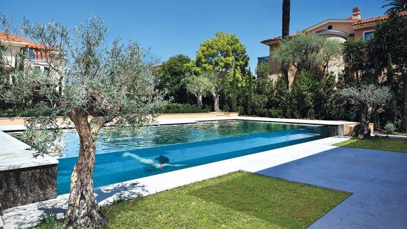 Design sans concession piscine paroi transparente Piscine à débordement Piscine à paroi vitrée Noir
