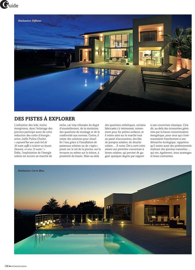 Gros plan sur la piscine basse consommation piscines modernes