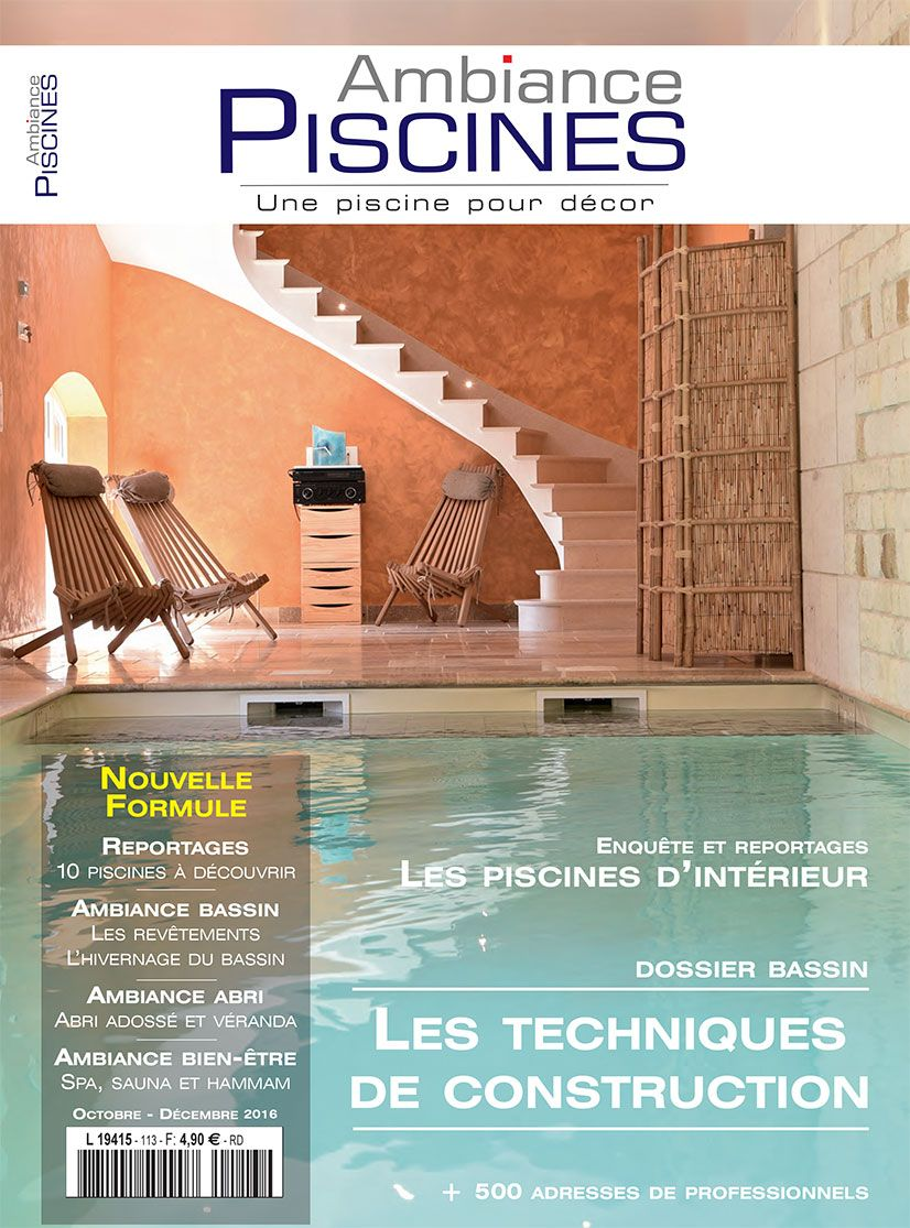 Une piscine int rieure miroir ambiance piscines for Ambiance piscine