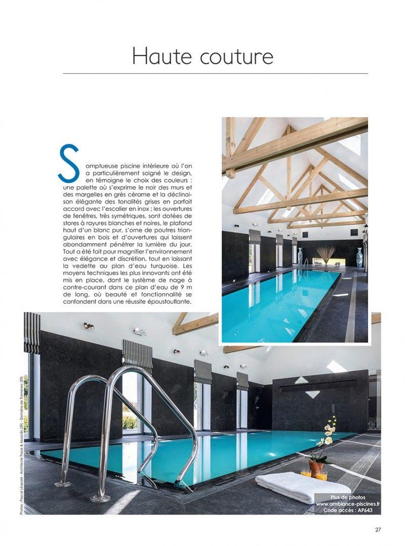 Focus sur une piscine intérieure miroir guenan ambiance piscines
