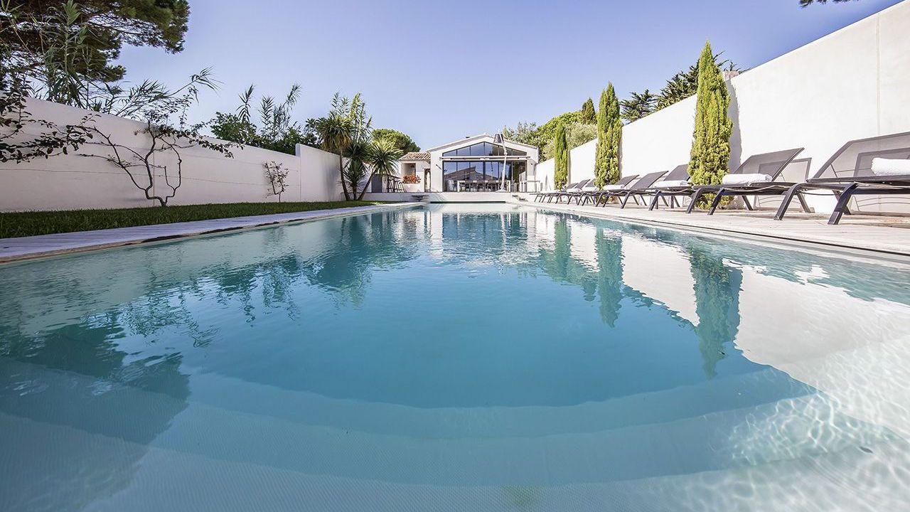 Traverser le jardin à la nage couloir de nage 15 x 3 Couloir de nage Gris clair