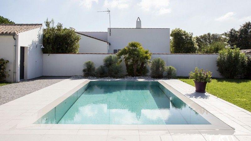 Au gré de vos envies piscine avec le fond mobile Piscine à fond mobile Gris clair