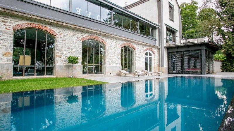 Reflets d'élégance piscine top Piscine miroir minéral Gris anthracite