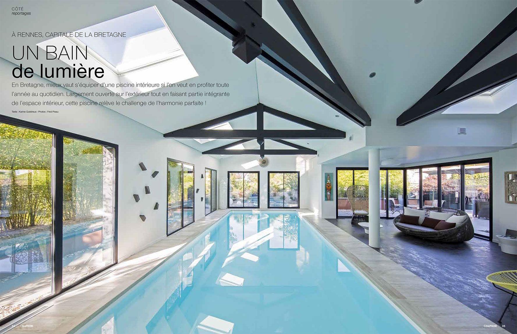 Un bain de lumière piscine interieure