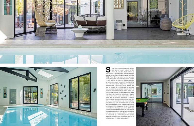 Un bain de lumière piscines 4 saisons maison