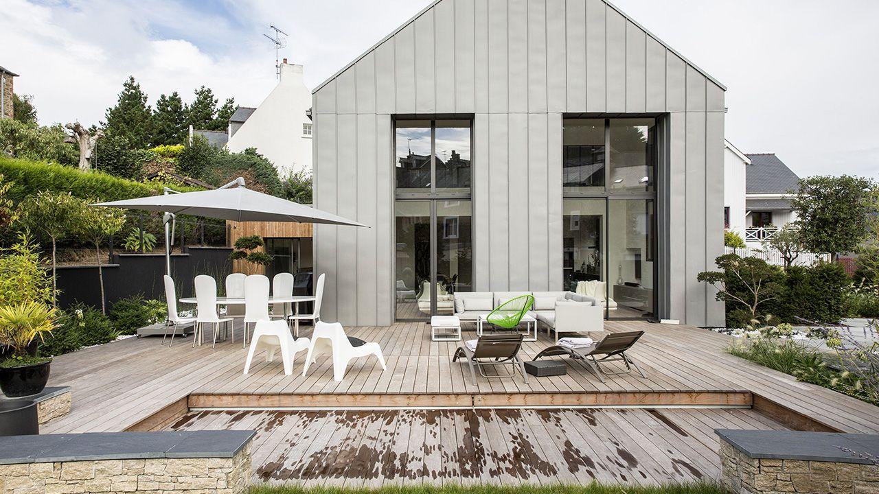 Un espace métamorphosé piscine terrasse en bois Piscine avec terrasse mobile Gris anthracite