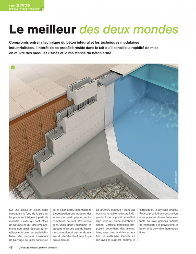 Piscine béton : procédé de construction guide piscine page 1