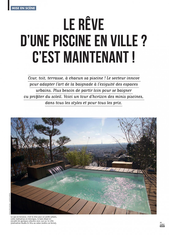 Une piscine en ville ? C'est maintenant ! patio ville