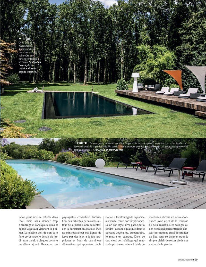 Un jardin en osmose avec sa piscine jardin et piscine