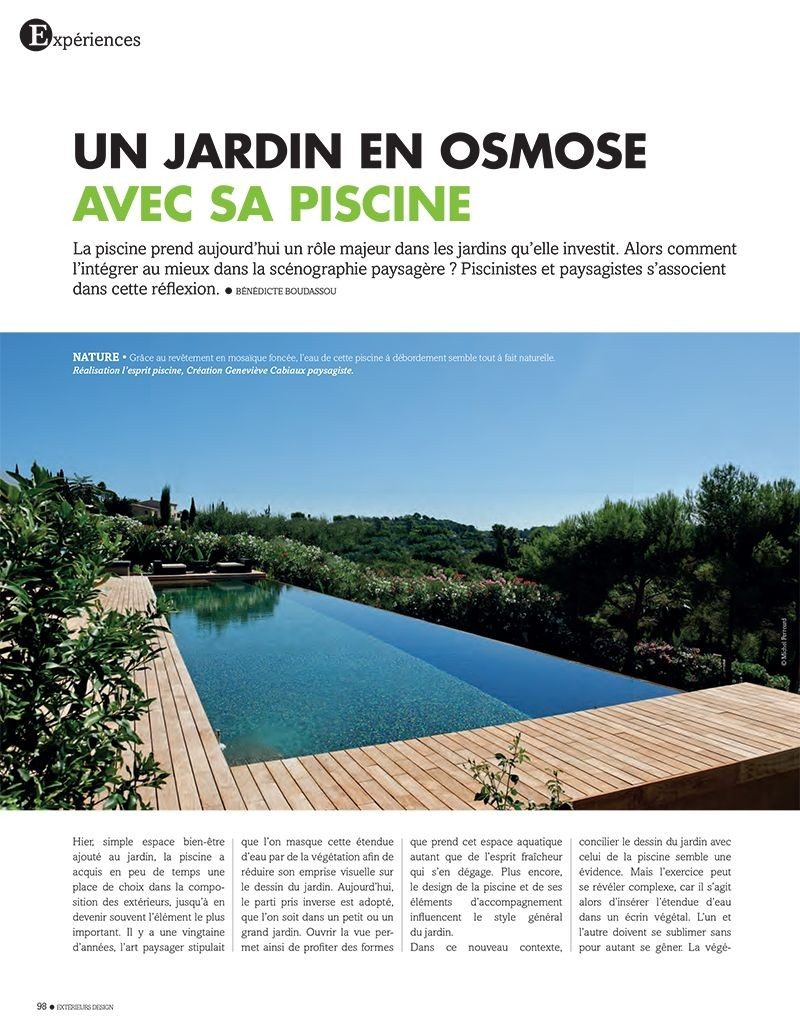 Un jardin en osmose avec sa piscine piscine et jardin