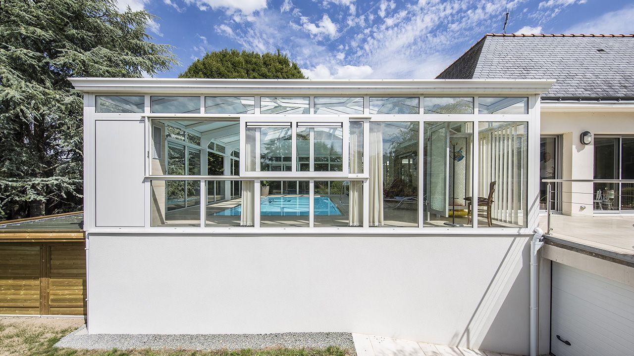 Baigné de lumière abri de piscine haut de gamme Abris de piscine Blanc