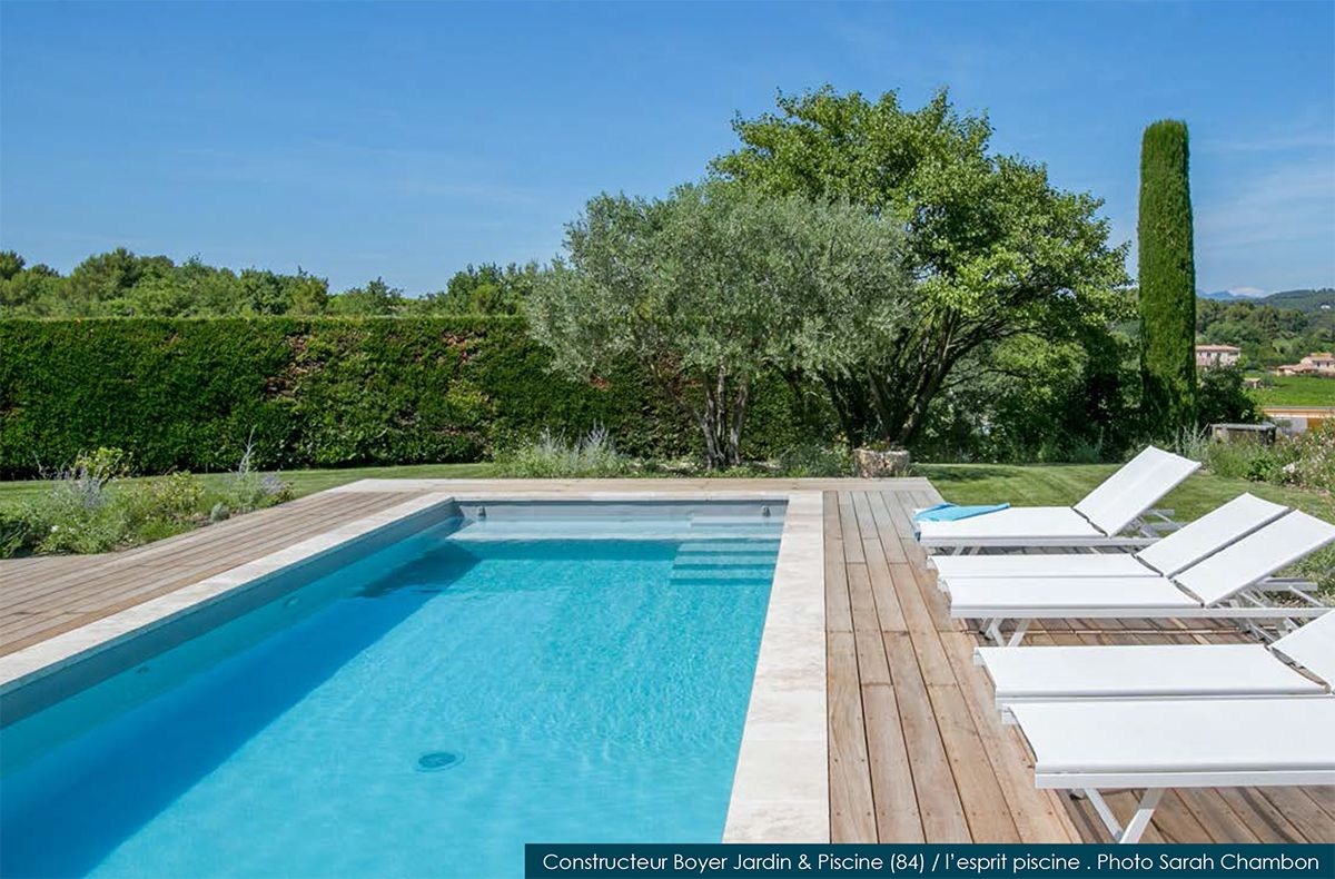 boyer piscine jardin