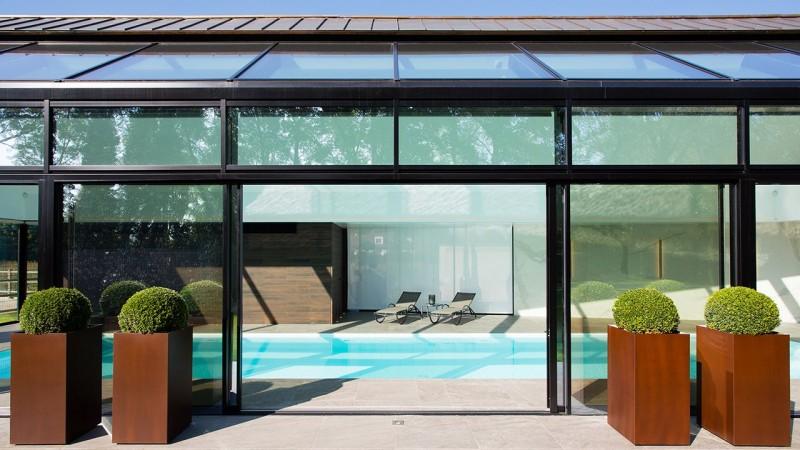 Pièce d'eau personnelle isolation pour piscine interieure Piscine intérieure Blanc