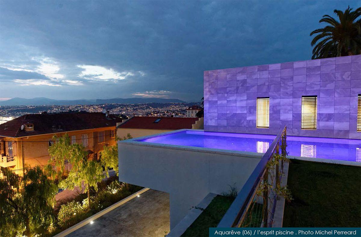 piscine de nuit pour Aquarêve