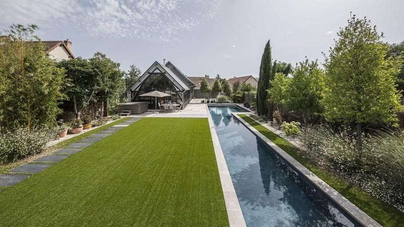 Longueurs à la maison piscine nage contre courant Couloir de nage 3D Gris ardoise