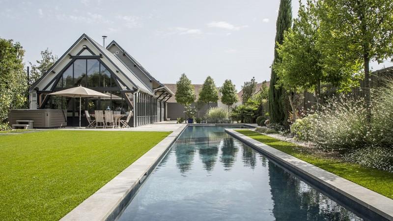Longueurs à la maison piscine semi olympique dimension Couloir de nage 3D Gris ardoise