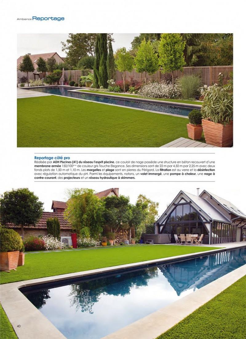 Le charme d'une piscine épurée couloir nage piscine charme