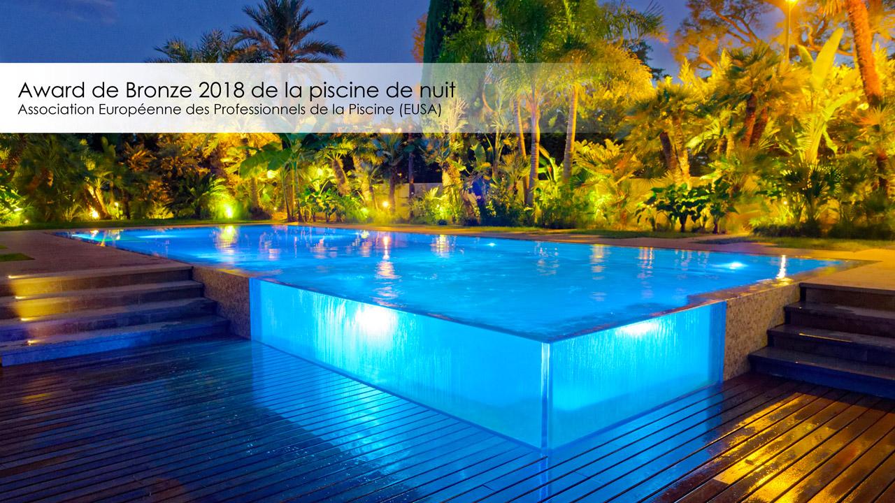 Award de Bronze 2018 de la piscine de nuit