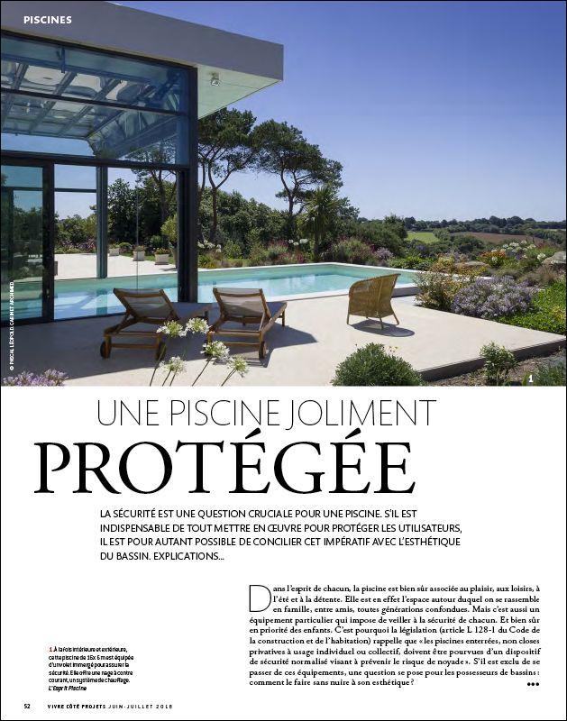 Une piscine joliment protégée Une piscine joliment protegee