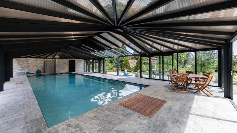 Bulle de détente éternelle abri piscine coulissant Abris de piscine Gris clair