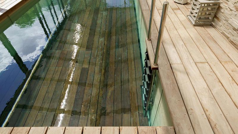 Baignade bucolique fabricant fond mobile piscine Piscine à fond mobile Abris de piscine 3D Sable