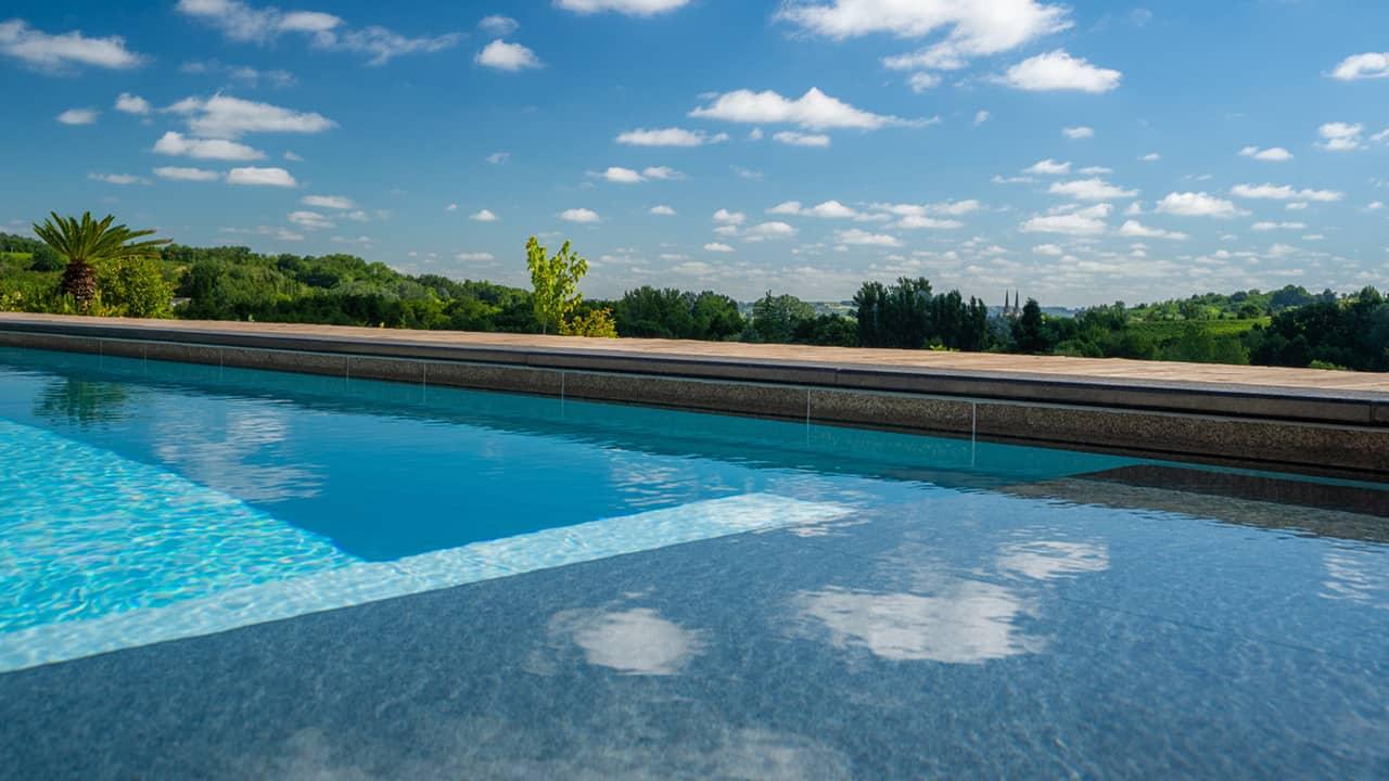 Ligne d'eau sur pierre ligne eau minerale esprit piscine 2020 73 Ligne d'eau minérale Gris anthracite