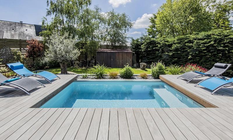 Piscine avec terrasse mobile La piscine mystère