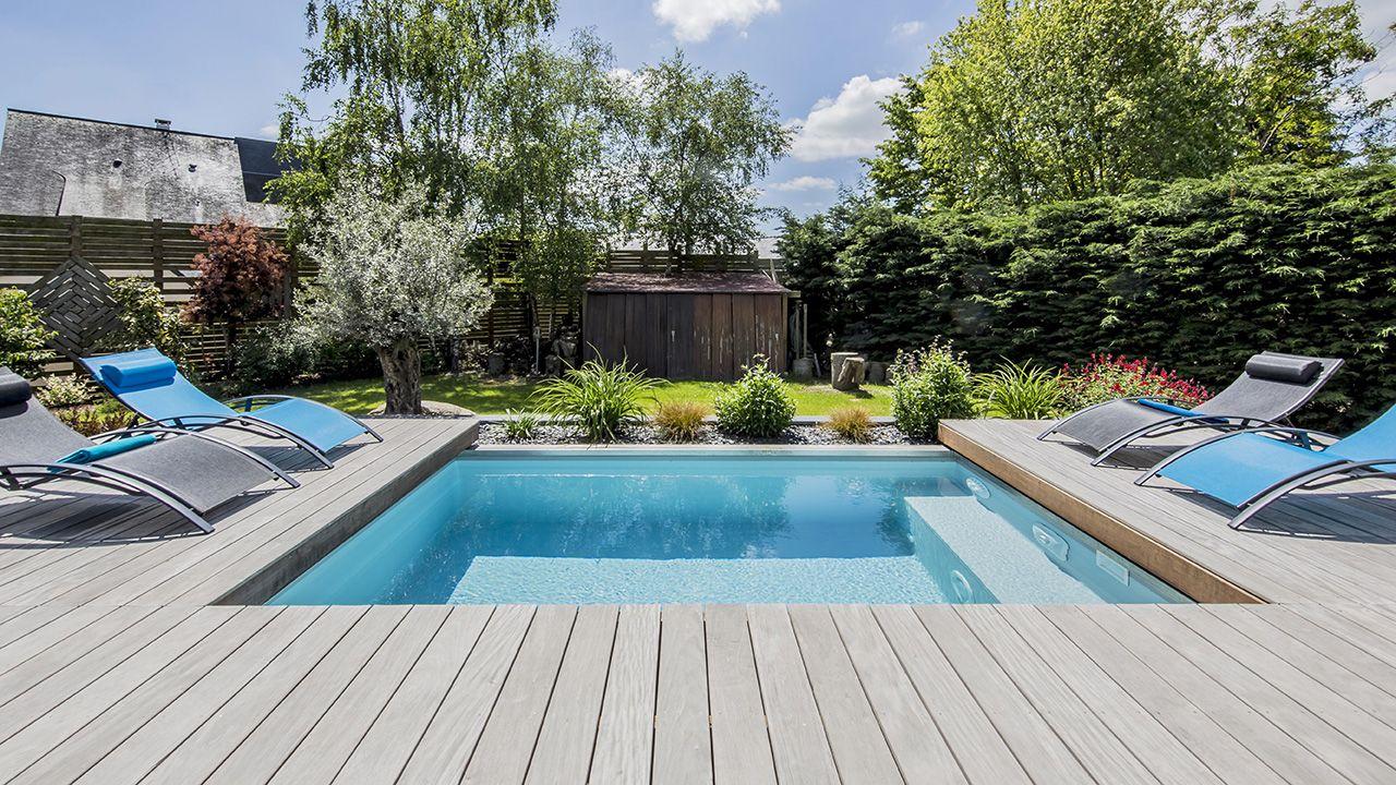 La piscine mystère mini piscine bois Piscine avec terrasse mobile