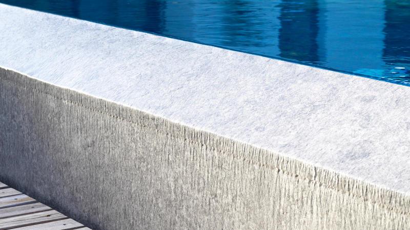 Baignade reposante piscine debordement gris Piscine à débordement 3D Gris béton