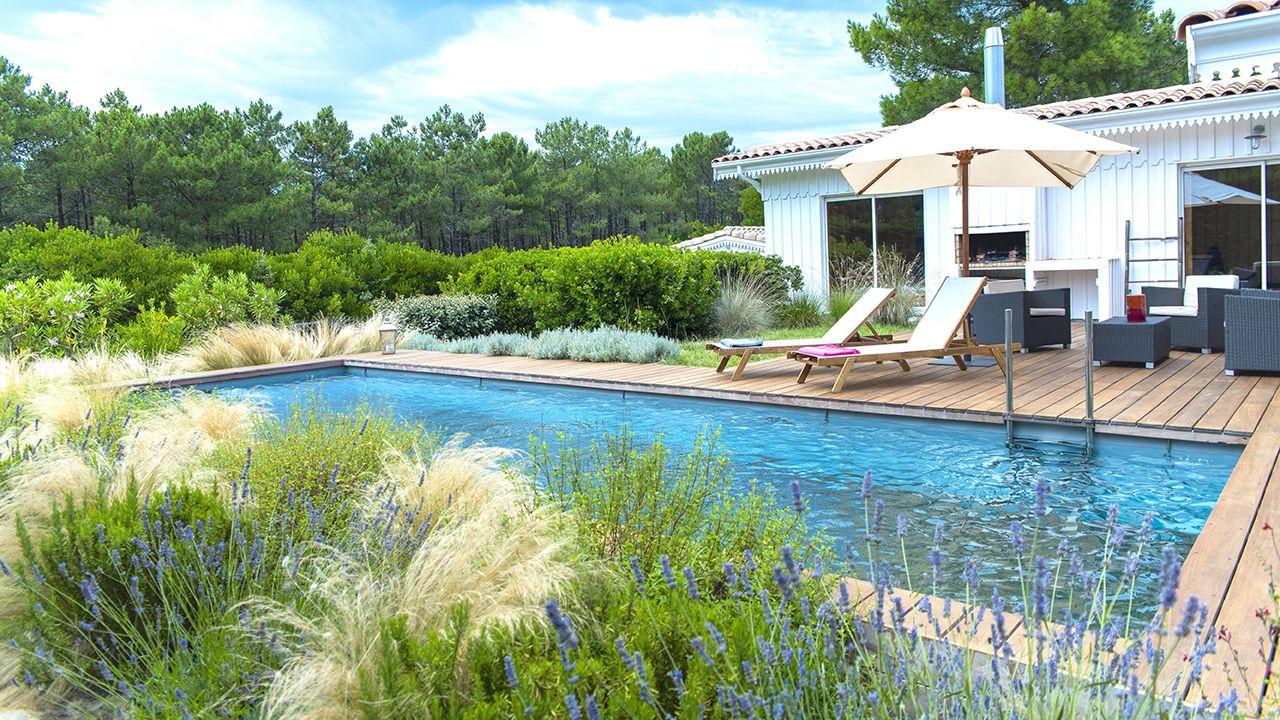 Essence d'eau et de bois piscine plancher amovible Piscine à fond mobile Gris clair