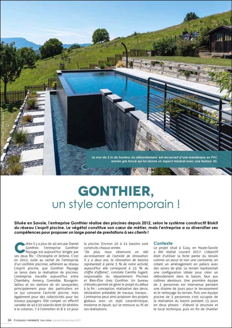 Gonthier piscines, un style contemporain Gonthier piscines style contemporain 2