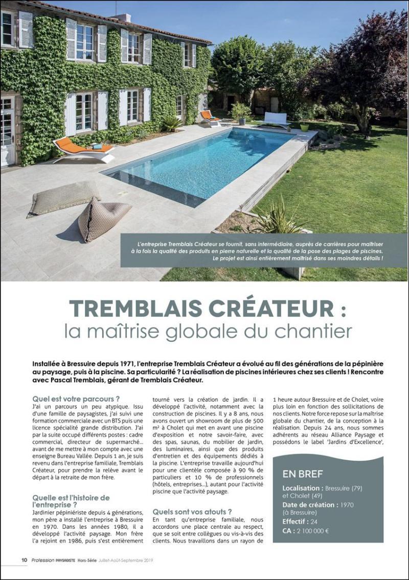 Tremblais Créateur : la maîtrise globale du chantier article magazine tremblais createur la maitrise du chantier