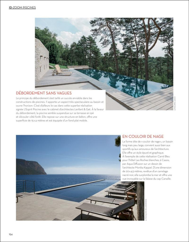 Débordement sans vagues piscine debordement design