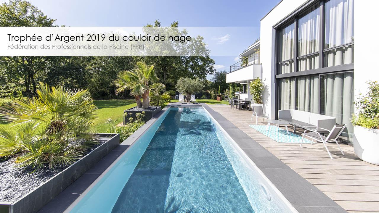 Trophée d'argent 2019 couloir de nage en longueur
