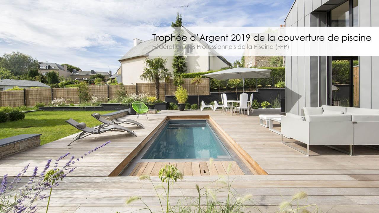 Trophée d'argent 2019 de la couverture de piscine