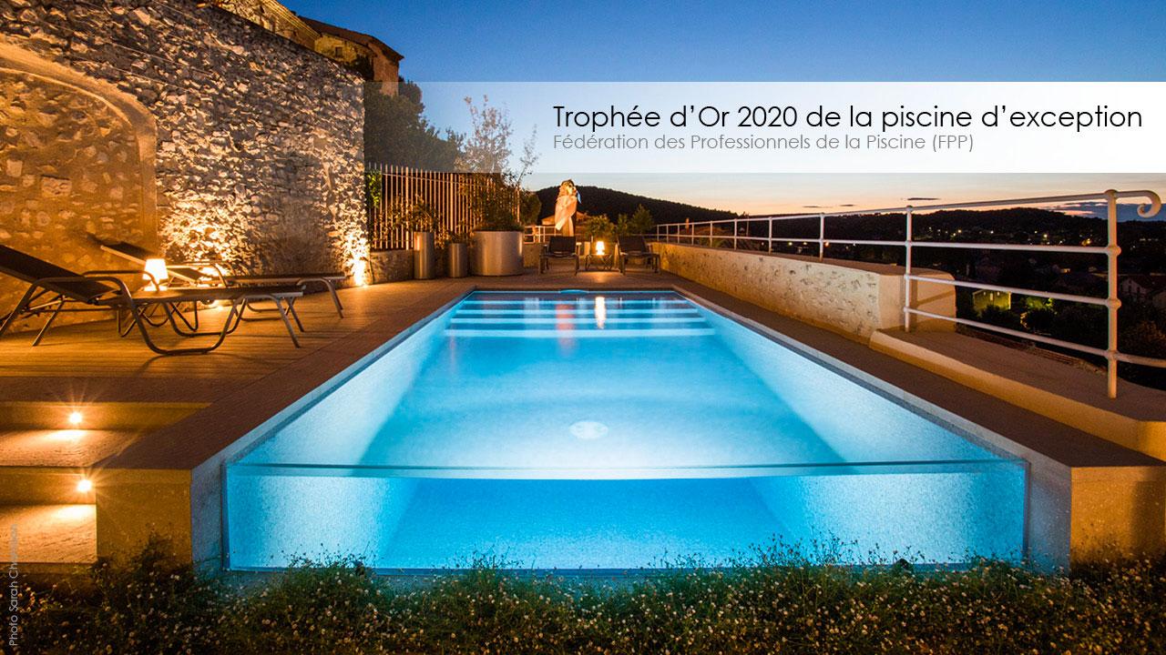 Le Trophée d'Or FPP 2020 de la piscine d'exception